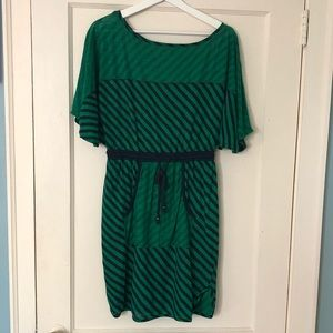 Plenty by Tracy Reese green and blue striped dress